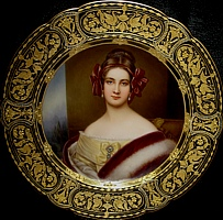 Daughter of Royal Bavarian Chamberlain Baron von Jordon and Violanda, Grafina von Sandizell. She was a maid of honor in the Order of Saint Theresia. She married Baron von Beust, a succussful politician and Austrian Court Minister for Saxony. He later became the ambassador to London and Paris. Painted at the age of 20.